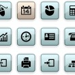 Stock Vector: Office dim icons.