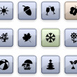 Seasons dim icons. — Stock Vector