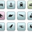 Transport dim icons. — Stock Vector