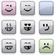 Smiley dim icons. — Stock Vector