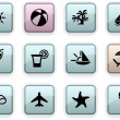 Vacations dim icons. — Stock Vector