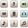 Audio  dim icons. — Stock Vector
