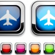 Royalty-Free Stock Vector Image: Aircraft button.