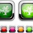 Royalty-Free Stock Vector Image: Tropical button.