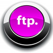 Stock Vector: FTP 3d round button.
