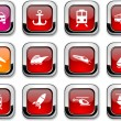 Transport icons. - Stock Vector