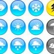 Weather icons. — Stock vektor