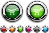 Alışveriş düğmesi. — Stok Vektör