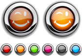 Smiley button. — Stock Vector