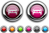 Car button. — Stock Vector
