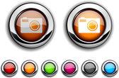 Photo button. — Stock Vector