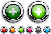 Botón de suiza. — Vector de stock
