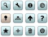 Web dim icons. — Stock Vector