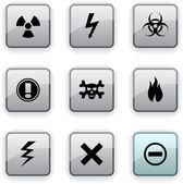 Warning dim icons. — Stock Vector
