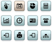 Office dim icons. — Stock Vector