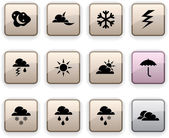 Weather dim icons. — Stock Vector