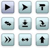 Arrows dim icons. — Stock Vector