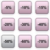 Discount dim icons. — Stock Vector