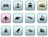 Transport dim icons. — Stock Vector