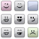 Smiley dim icons. — Stock Vector