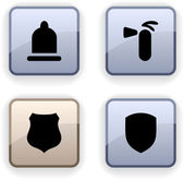Safety dim icons. — Stock Vector