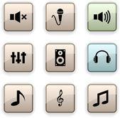 Audio dim icons. — Stock Vector