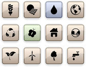 Ecology dim icons. — Stock Vector