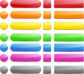 Color blank buttons. — Stock Vector