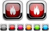 Przycisk ognia. — Wektor stockowy