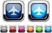 Botón de aeronaves. — Vector de stock