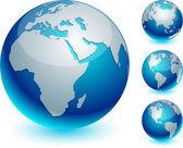 Blue Earth. — Stock Vector