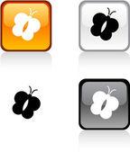 бабочка кнопка. — Cтоковый вектор
