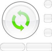 Refresh white button. — Stock Vector