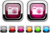 Photo button. — Stock Vector