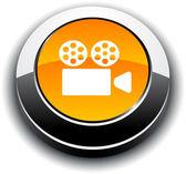 Cinema 3d round button. — Stock Vector