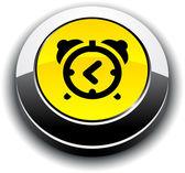 Alarm-clock 3d round button. — Stock Vector