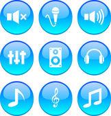Audio icons. — Stock Vector