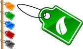 Etiquetas de ecología. — Vector de stock