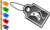 Gamepad tags. — Stock Vector