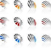 Conjunto de símbolos de la empresa. — Vector de stock