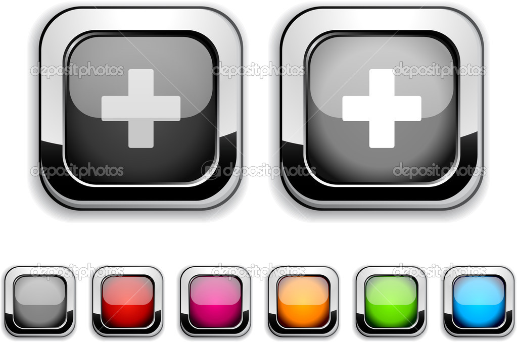 Switzerland realistic icons. Empty buttons included. — Stock Vector #5364767