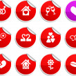 Love stickers. - Imagen vectorial