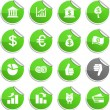 Royalty-Free Stock Vector Image: Money stickers.