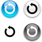Refresh button. — Stock Vector