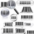Set of barcodes. - Stok Vektör