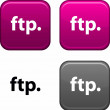 Stock Vector: FTP button.