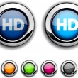 HD button. — Stock Vector
