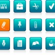 Royalty-Free Stock Vector Image: Office icons.