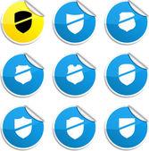 Shield stickers. — Stock Vector