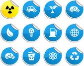 Ecologie stickers. — Stockvector